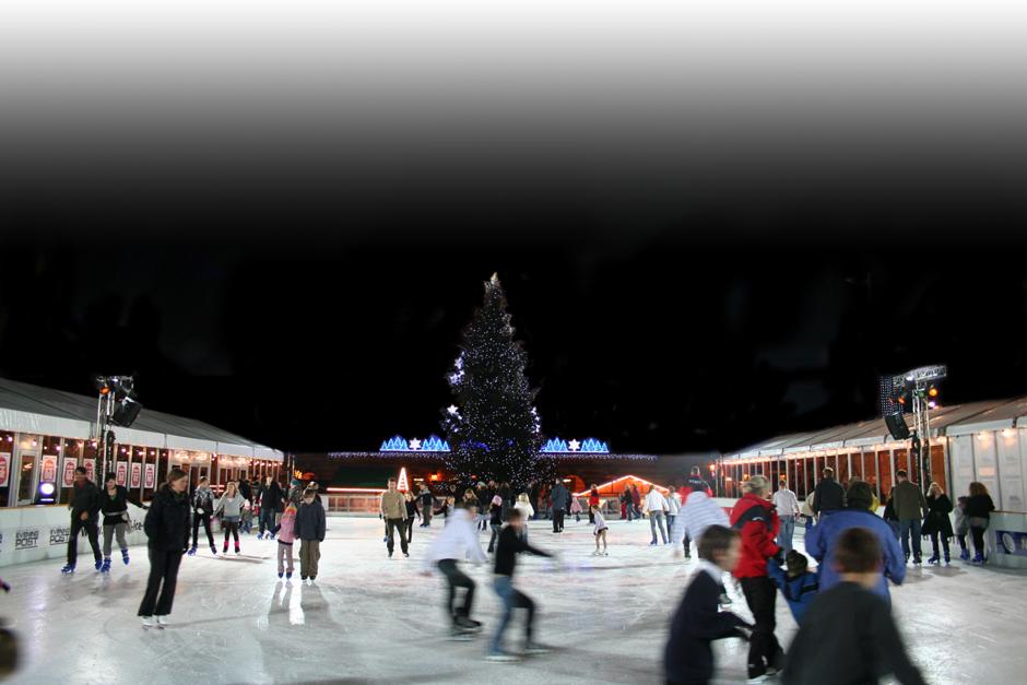 Christmas Village Ice Skating Rink.No 4 Christmas Ice Skating Rink No 4 Clifton Village