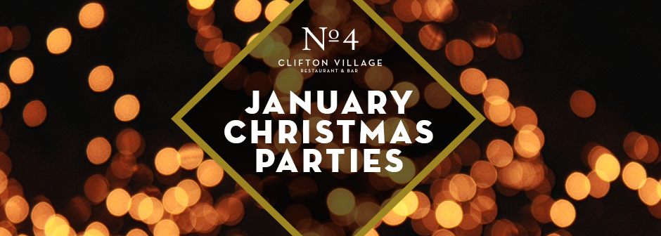 Office Christmas Party Special Offer - January at No. 4