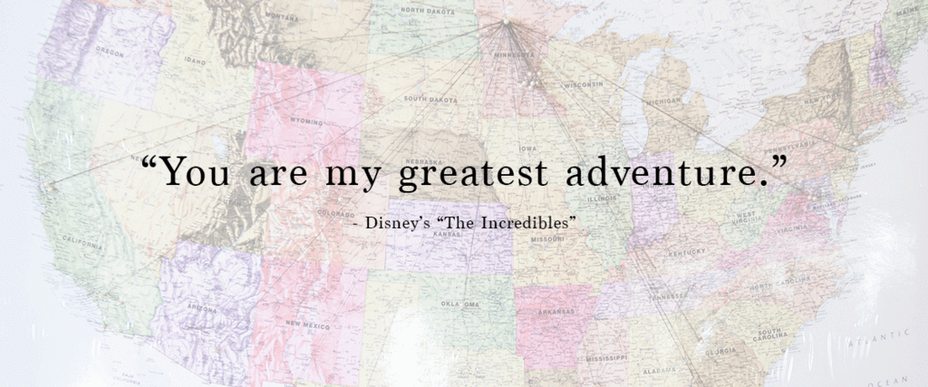 travel themed wedding quote